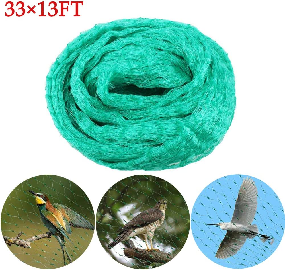 Flowers Vegetables and Seeds from Birds Bird Netting 33 Ft x 13 Ft Garden Netting Anti Bird Protection Plant Mesh Net Reusable Fencing Protect Fruit Tree Bird Netting,33x13Ft