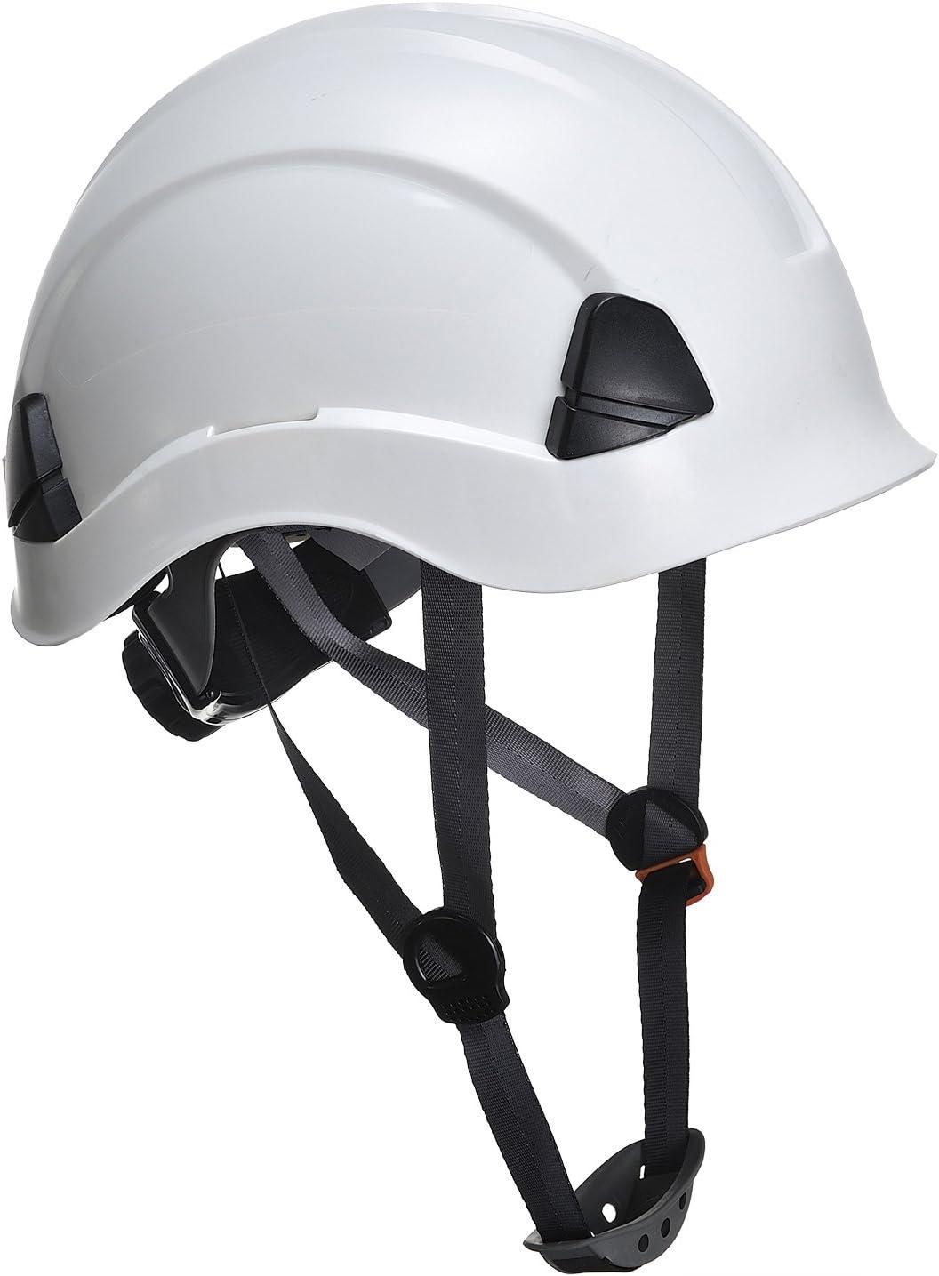Portwest PS53 - Casco resistente para trabajo en altura, Blanco, 52-63cm