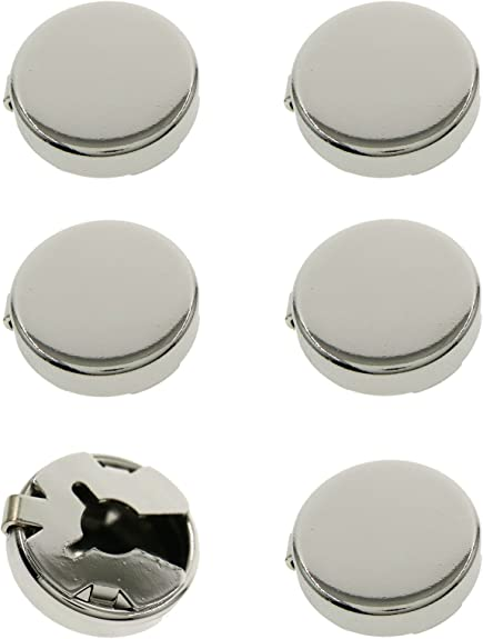 Ms.Iconic 17.5MM Black,Blue,Purple Round Cuff Button Cover Cuff Links for Wedding Formal Shirt 6Pcs//Set