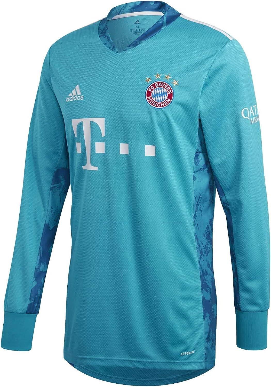 adidas 2020-2021 Bayern Munich Home Goalkeeper Football Soccer T-Shirt Jersey