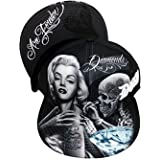 Marilyn Monroe Smile Now Cry Later Snapback Cap David Gonzales Art DGA Lowrider