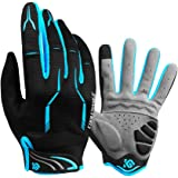 Cycling Gloves Full Finger - CoolChange Bike Gloves Transparent Gel Padded Touch Screen &SBR Shockproof Road Mountain Bicycle Gloves For Men&Women