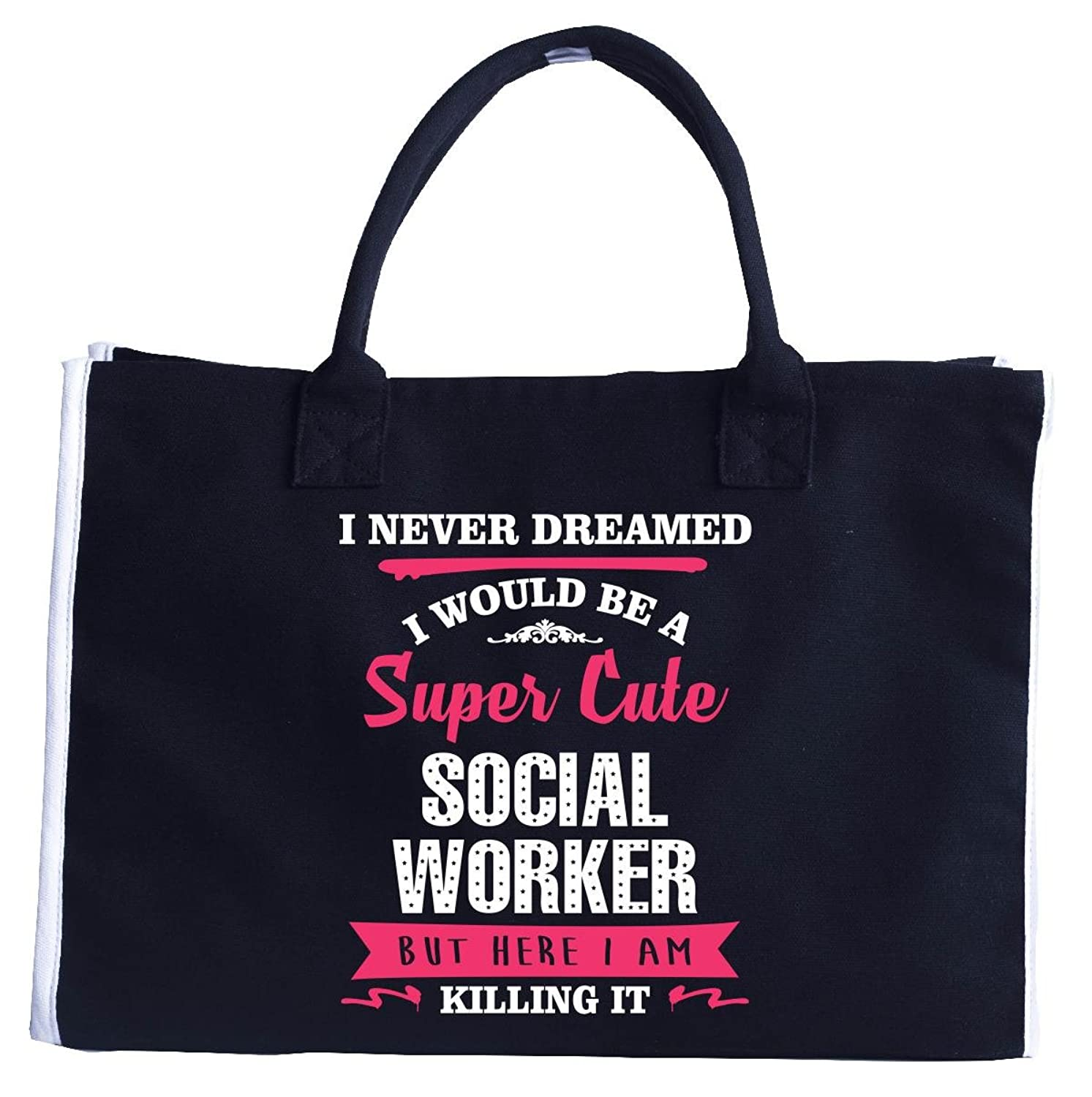 Cool Birthday Gift For A Super Cute Social Worker - Fashion Customized Tote Bag