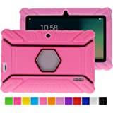Turpro Kids' Shockproof Silicone Case for Chromo Inc 7 inch, Alldaymall A88X, Dragon Touch Y88X Plus/Y88X, VURU A33, NPOLE 7 Inch Tablet (Pink)