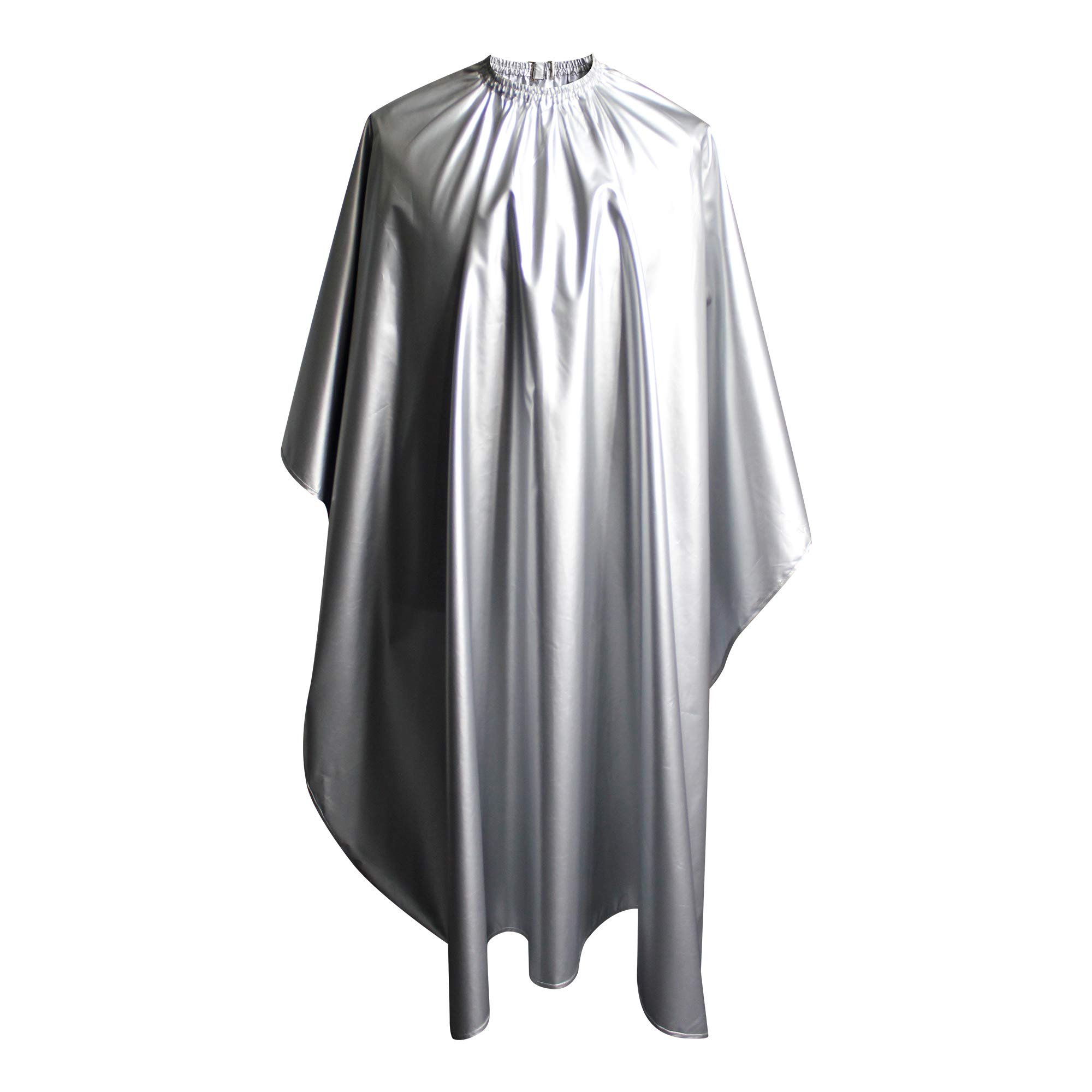 SMARTHAIR Professional Salon Cape Polyester Haircut Apron Shampoo & Chemical Resistant Haircut Cape,54''x62'',Silver,C012001B-S by SMARTHAIR