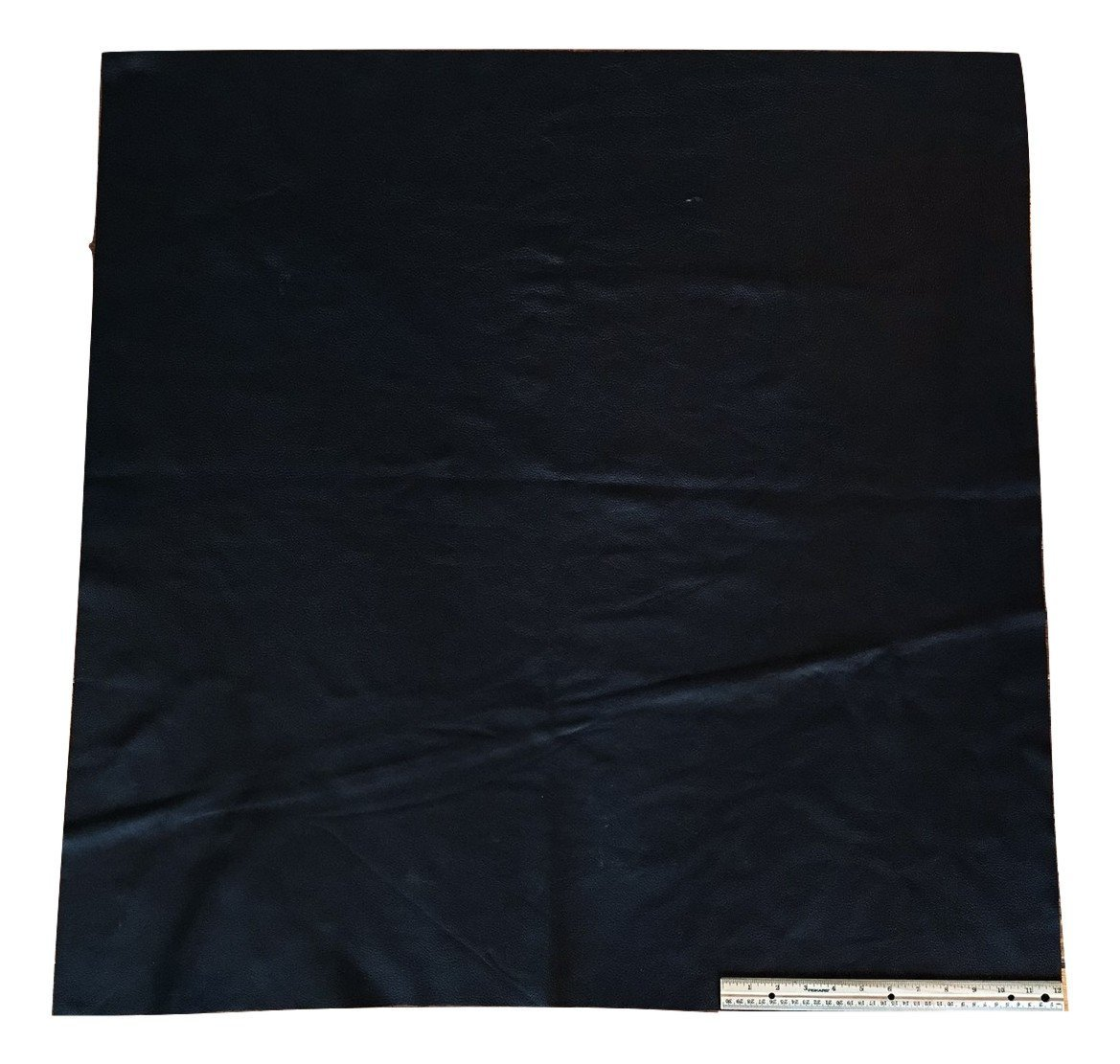 Upholstery Leather Piece Cowhide Black Light Weight; 3 feet x 3 feet, 9 square feet