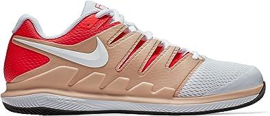 7022d26642c11 Nike Men's Air Zoom Vapor X Tennis Shoes (11.5 M US, Bio Beige/White-Bright  Crimson-Black)