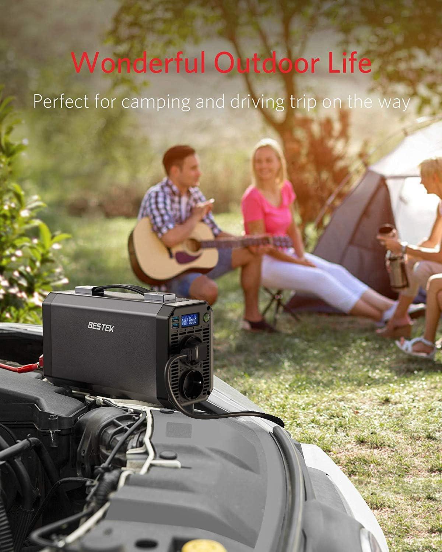 BESTEK Convertisseur Pur Sinus 1000W Onduleur 12v 220v pour Voiture Camion Camping-Car Bateau avec 2 Ports USB 4.2A et 2 Prises AC /écran LCD, 4 Fusibles, Clips de Batterie