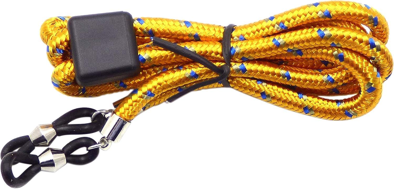 Herren Brillenband Damen Kinder Lesebrillen Sport Brillenkette Bunt 65cm f/ür Sonnenbrillen Gelb Farben Blau La Optica B.L.M