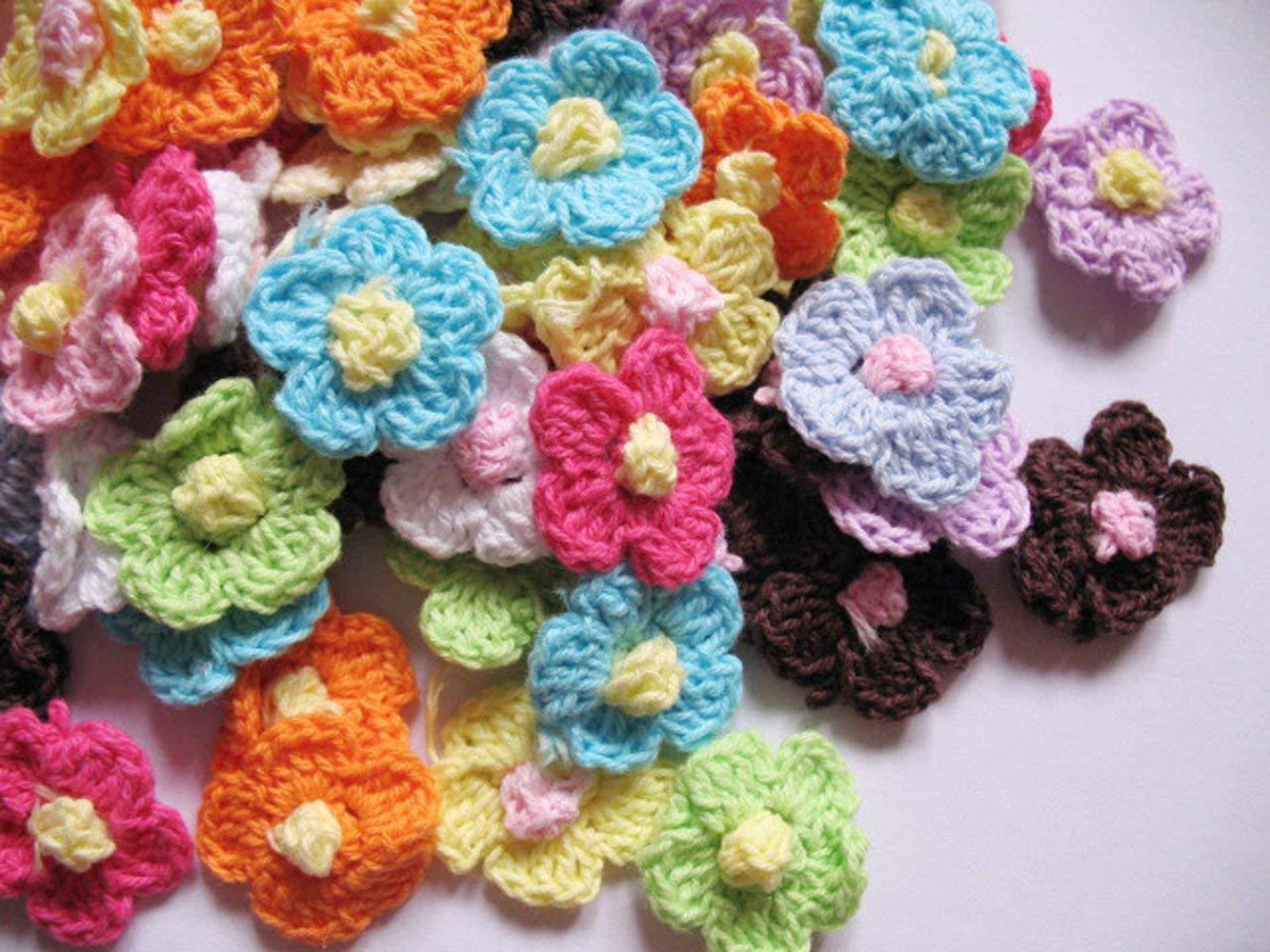 Juego de flores de ganchillo de primavera de gran calidad YYCRAFT
