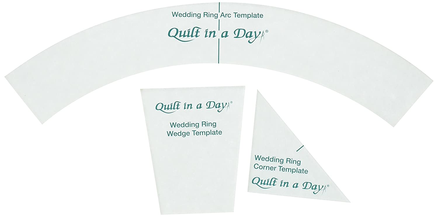 Amazon.com: Quilt In A Day Double Wedding Ring Templates (3 Pack)