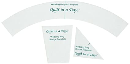 Amazon Com Quilt In A Day Double Wedding Ring Templates 3 Pack