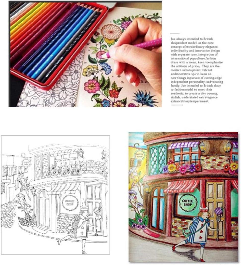 ROCONAT Libro da colorare Dipinto a Mano di decompressione del Fumetto dei Nuovi Bambini dei Bambini Coni per la Scuola