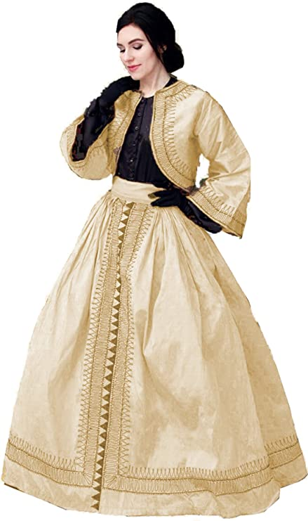 Old Fashioned Dresses | Old Dress Styles Zouave Costume Set Civil War Reenactment Skirt and Jacket $53.99 AT vintagedancer.com