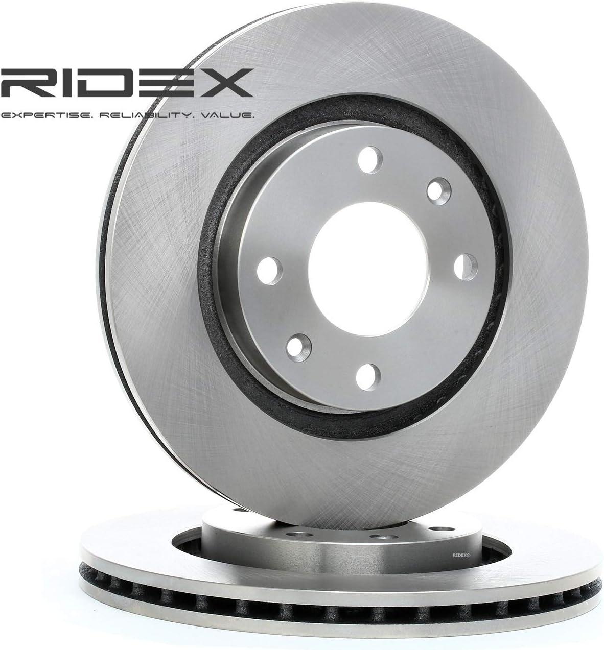 x2 Bremsscheiben Vorne RIDEX 82B0015 Bremsscheibe Scheibenbremsen