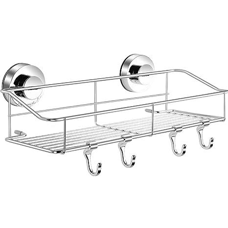 Amazon.com: Haundry - Cesta de ducha con ventosa, esquina de ...