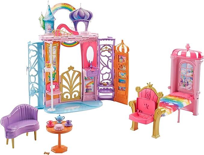Dollhouse Miniature Door Wood Fairy Purple Hardware Assembled Wishing Bottle Key