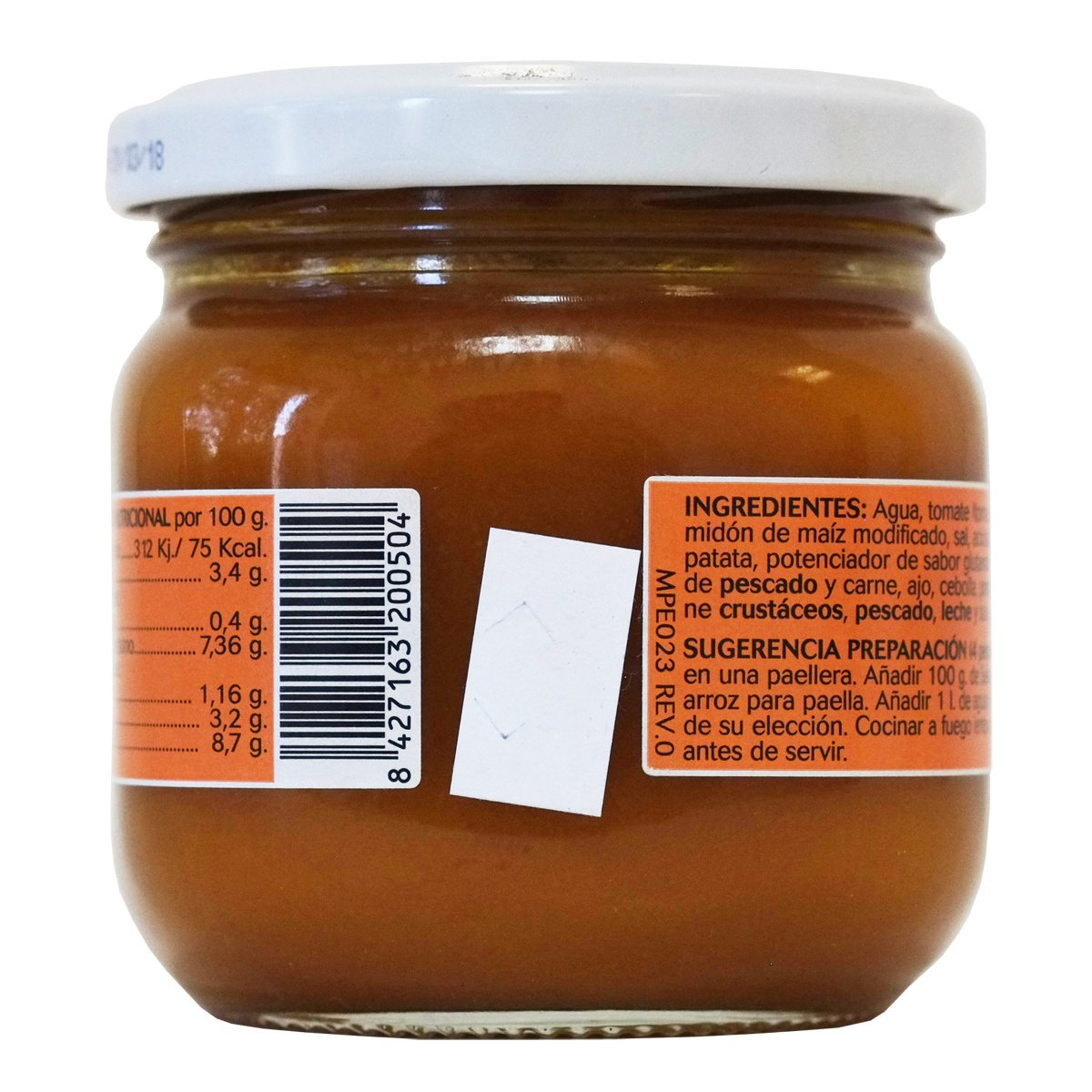 Amazon.com : Paella Sauce Glass Jar 200 gr - Pack of 3 : Grocery & Gourmet Food