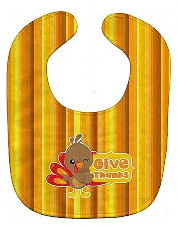 multicolor 10 x 13 Carolines Treasures BB7113BIB Thanksgiving Baby Turkey Baby Bib