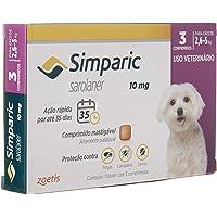Simparic 10mg para cães de 2,6 a 5kg com 3 comprimidos