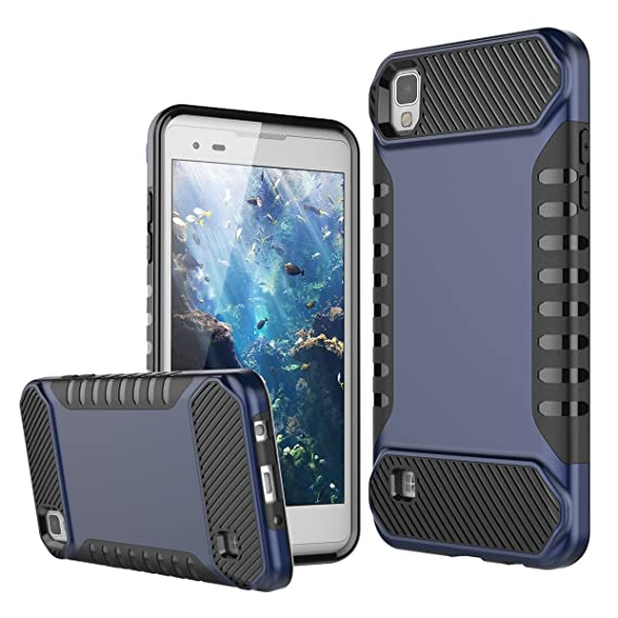 LG Tribute HD Case, LG X Style Case, LG Volt 3 Case, WeLoveCase Rugged Shockproof Tough Bumper Case Dual Layer Heavy Duty Armor Protective Cover for ...