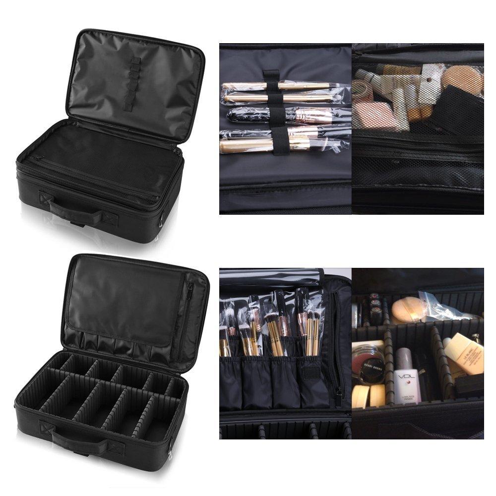 Hotrose Professionista del sacchetto di pennello grande trucco Space - Artista cosmetici Organizzatore Kit - gestire borsa a tracolla - scatola di viaggio hotrose®