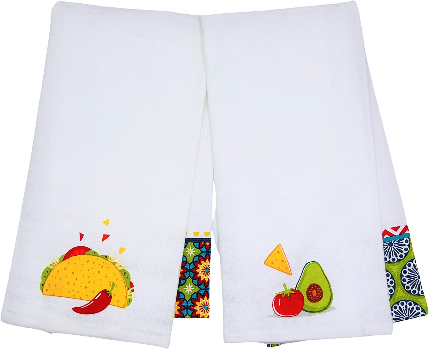 Live Like Every Day is Taco Tuesday /& You Guac My World Kitchen Towels Set of 2 Colorful Guacamole /& Taco Fiesta Kitchen Towels with Vibrant Mexican Geometric Art