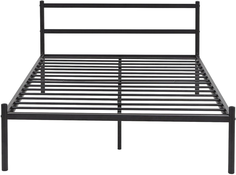 Tesco Neue Kenny Kleines Doppelbett Metall Bett Rahmen mit Kopfteil ...