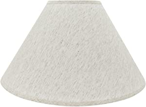 "Aspen Creative 32561 Transitional Hardback Empire Shaped Spider Construction Lamp Shade in Beige, 20"" Wide (7"" x 20"" x 12 1/2"")"