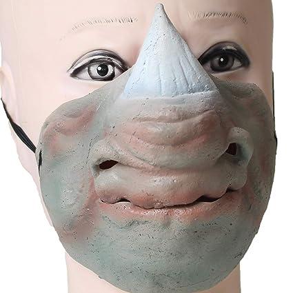 Amazoncom Partycostume Latex Halloween Rhinoceros Horn Half Face