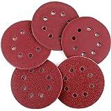 Coceca 100pcs Orbit Sander Sanding Discs 5-Inch 8-Hole Hook and Loop Sandpaper, 20pcs Each 40/60/80/150/240 Grits Sandpaper, Fit for Random Orbit Sander, Random Orbital Sander