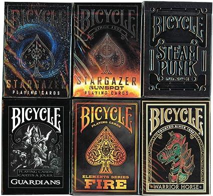 2 DECKS BICYCLE 1 STARGAZER AND 1 GUARDIANS PLAYING CARDS MAGIC TRICKS USPCC NEW