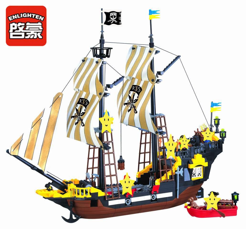 Amazon Enlighten Pirate Ship Boat Adventure Building Block