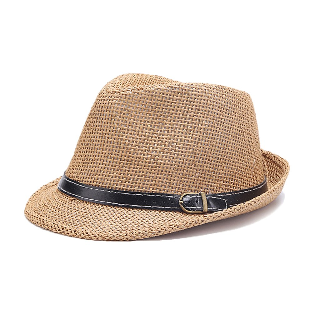 C-Crown Trilby Panama Hat Men Boys Straw Summer Hat doublebulls DH1127B