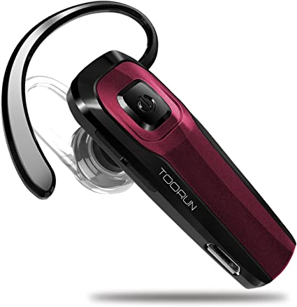 Amazon Com Toorun M26 Bluetooth Headset With Noise Cancelling Compatible With Smart Phones Lg G7 Samsung Note9 S9 Iphone Xs Mas Moto Z3 P30 Google Pixel3 Zte Axon Red Home Audio Theater