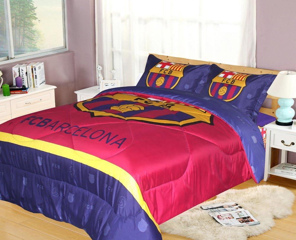 FCBarcelona King Size 4pc Comforter Set, Navy