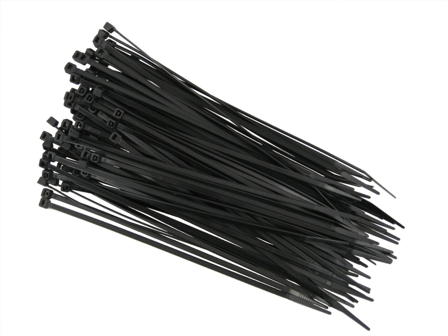 QualGear CT8 B 100 P Self Locking Cable Ties 14 Inch Black 100 Poly Bag