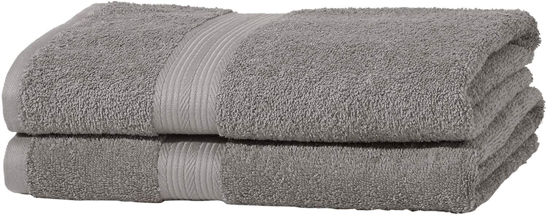 AmazonBasics - Juego de toallas (colores resistentes, 2 toallas de ...