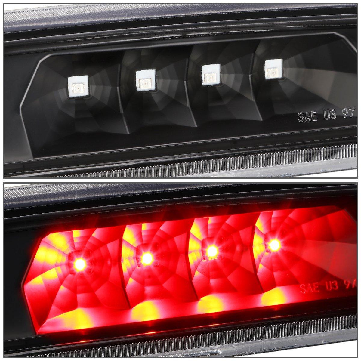 Black Housing Smoked Lens For 97-01 Jeep Cherokee Rear Hight Mount LED 3rd Third Tail Brake Light