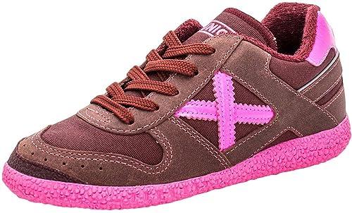 Munich Mini Rosa, Zapatillas deportivas- Bambas, plano de 0 a 2 cm, piel, Redonda, Primavera/Verano, 34: Amazon.es: Zapatos y complementos
