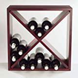 Wine Enthusiast 24 Bottle Compact Cellar Cube Wine Rack (Mahogany),