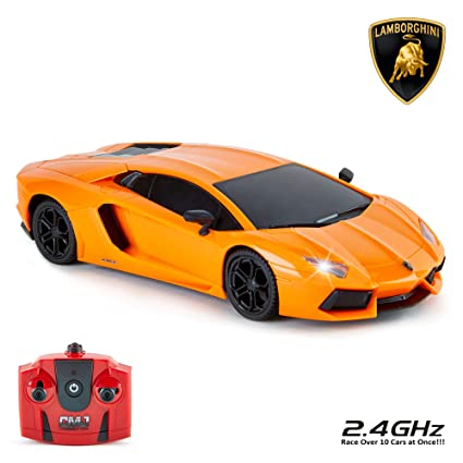 CMJ RC Cars™ Lamborghini Aventador LP700,4 Officially Licensed Remote  Control Car 124 Scale Working Lights 2.4Ghz Orange