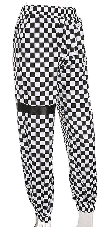Mujer Pantalones Pantalones Verano Largos Elegantes Elastisch Bund A Cuadros  Pants Casuales Moda Hip Hop Basicas Pantalones De Tela Trousers Disfraz  ... 4ca252b0606