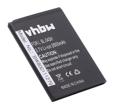 vhbw Li-Ion batería 2600mAh (3.8V) para teléfono móvil ...