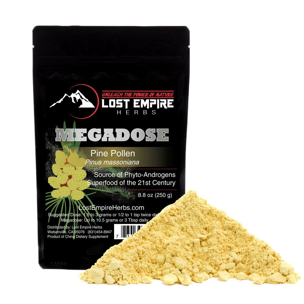 Wild Harvested Pine Pollen Megadose 250g – NON-IRRADIATED – Nootropic Herb Supports Immune System Health, Boosts Energy, Antioxidant Androgenic – Gluten Free Vegan Paleo Keto Friendly