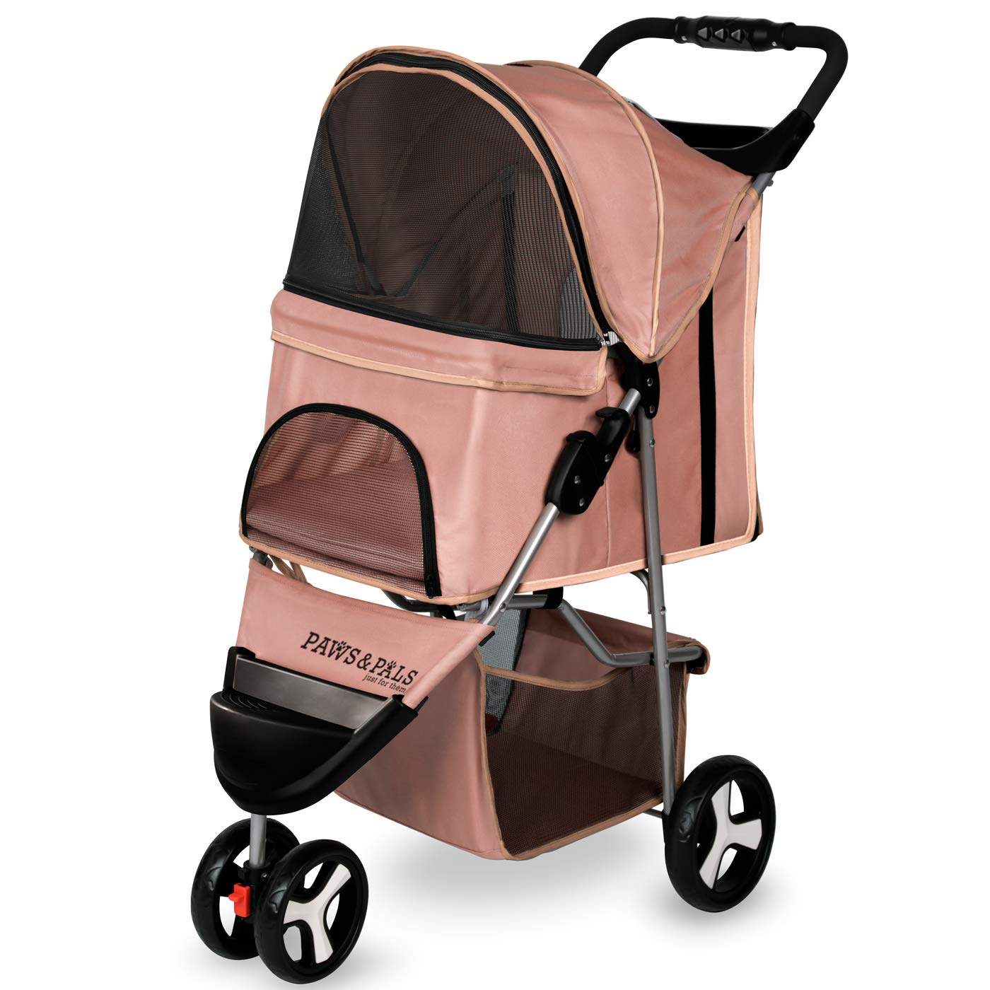 Dog Stroller – Pet Strollers for Small Medium Dogs & Cats – 3 Wheeler Elite Jogger – Carriages Best for Cat & Large…