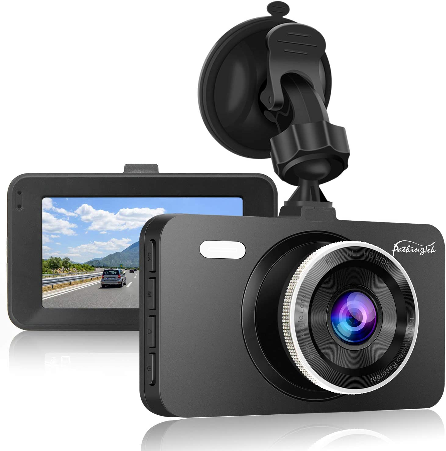 Mini Dash Cam,1080P Full HD Dashboard Video Recorder for Car Camera with Sony Sensor Dash Camera for Cars Enhanced Super Night Vision,170/°Wide Angle,Support 128GB Memory Card