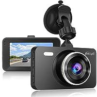 "Dash Cam 1080P DVR Dashboard Camera Full HD 3"" LCD Screen 170°Wide Angle, WDR, G-Sensor, Loop Recording Motion Detection…"
