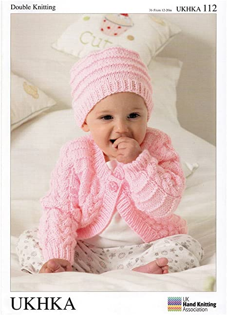 12-20 inches Cardigans New UKHKA Knitting Pattern 112 blanket and hat