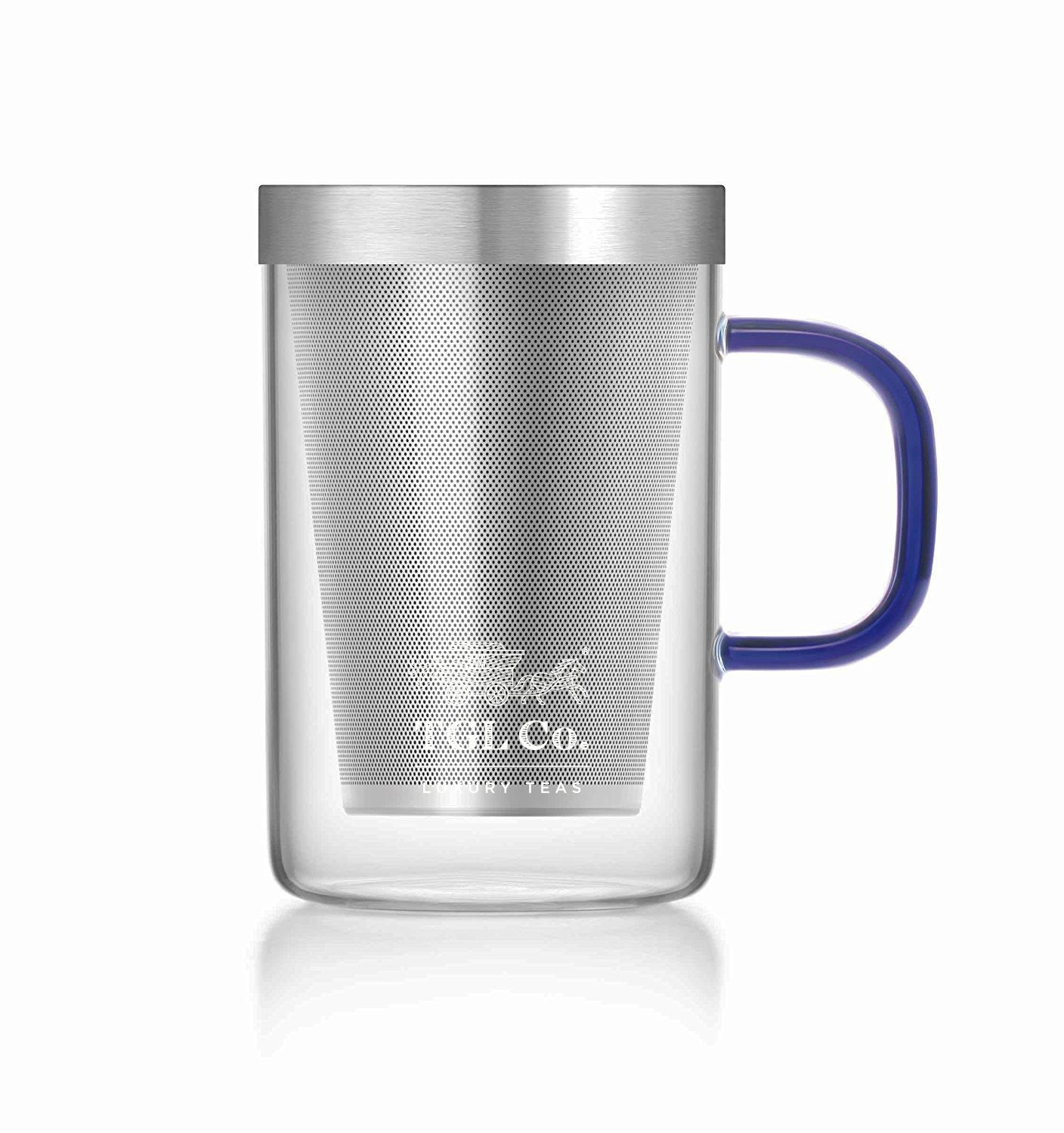 TGL Co. LUXURY TEAS Stainless Steel Tea Cup With Lid, 500Ml, Silver